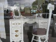 vintage vanity table rehabbed