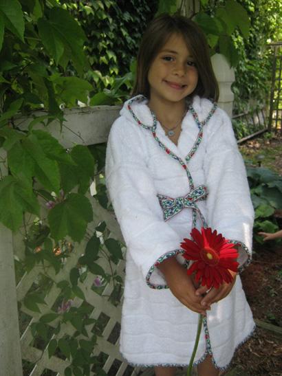 children's hooded bath robe